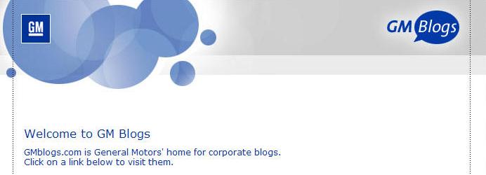 Корпоративные блоги General Motors
