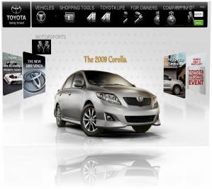 Корпоративный сайт Toyota