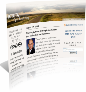 Корпоративный блог Toyota